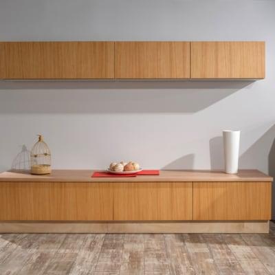 Wohnwand Bauformat Luminoso Sandbeige